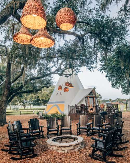 Teepees at Westgate River Ranch make for a perfect place to go glamping in Florida