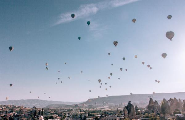 Sunrise from Cappadocia Cave Suites. Click for a 3 day itinerary and guide to Cappadocia's must see locations and most Instagramable places.