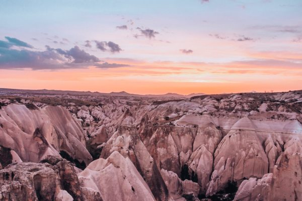 Sunsets in Cappadocia are magical from this spot near Panoramic View Point. Click for a guide to Cappadocia's must see locations and most Instagramable places.