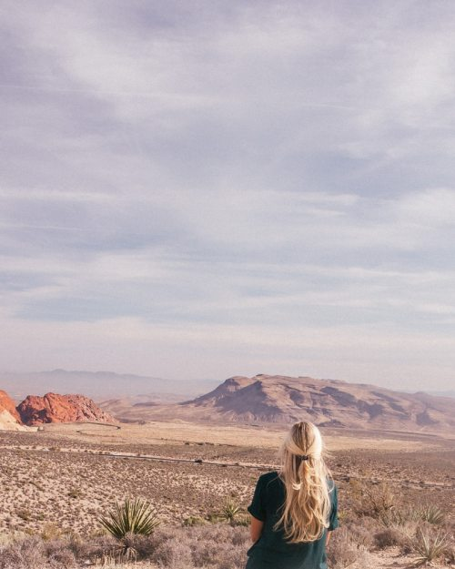 We flew to Vegas for $100 round trip with Next Vacay and went hiking in Red Rock Canyon.