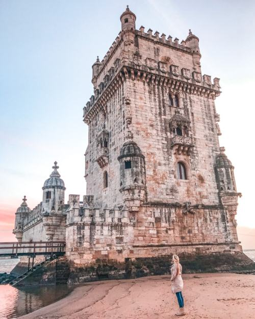 Belem Tower at sunset. Find the most Instagrammable places in Lisbon and tips on how to get them to yourself (plus a free map!)