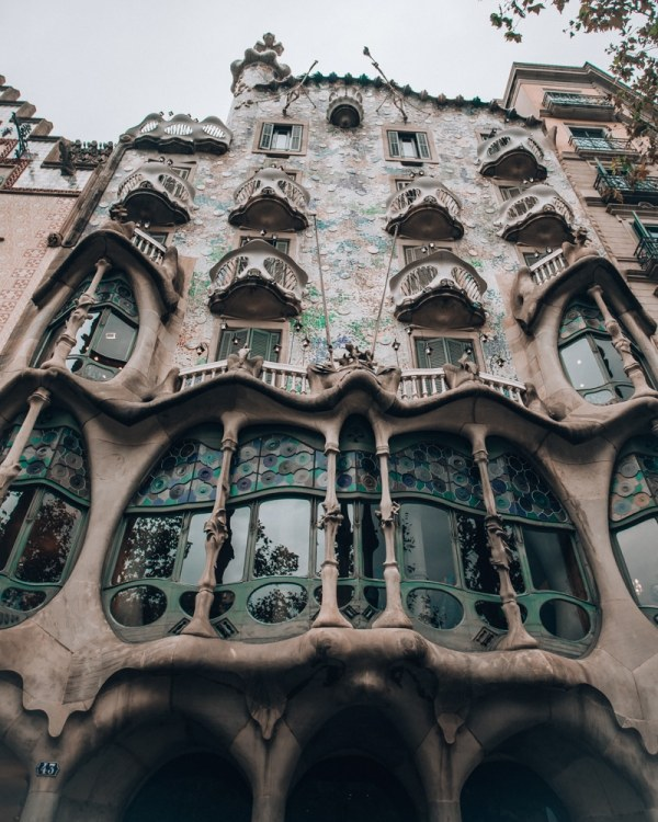 Gaudi's Casa Batllo is a popular spot for photos and one of the top things to see in Barcelona. Get our full 3 day Barcelona itinerary with a free map here!
