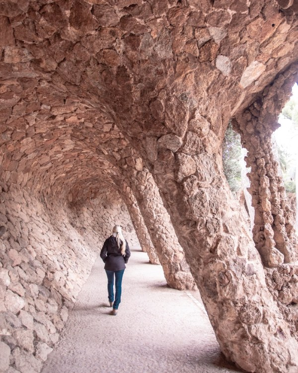 This curved walkway in Park Guell is a popular Instagram photo spot. Keep walking a little further to get it to yourself instead of waiting in line. Get all the best Barcelona travel tips for photo locations in this 3 day itinerary.