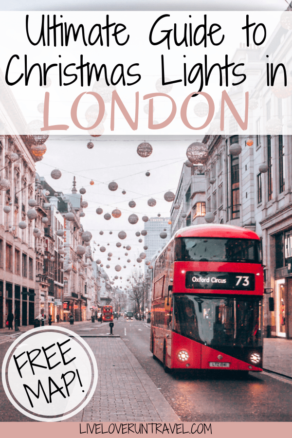 Click here for a guide to all the best Christmas lights for a perfect Christmas in London including a free map! #london | #christmas | London Christmas | Christmas in London | London at Christmas | London at Christmas time | London in winter | winter in London | London streets | best London Christmas lights | best Christmas lights in London | London things to do in | things to do in London | things to do in London in winter | things to do in London at Christmas | London travel guide
