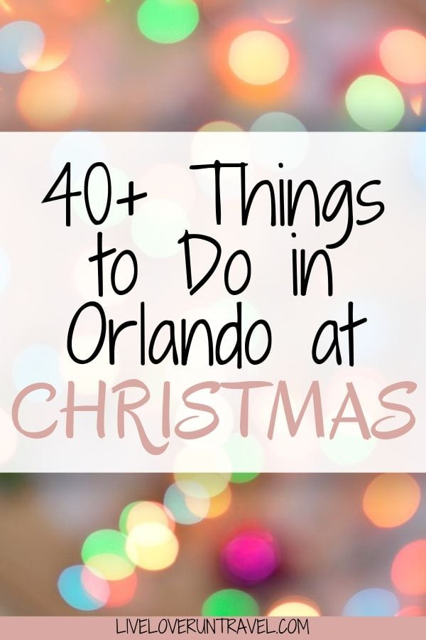 Click here for a local's guide to 40+ things to do in Orlando at Christmas. There is something for everyone on this list! #orlando #florida #christmas #floridatravel | Christmas in Orlando | Orlando things to do in | Christmas events Orlando | Orlando vacation tips | Orlando Florida | Disney travel tips | things to do in Orlando with kids | Orlando Florida vacation | vacation Florida | family vacation Florida | free things to do in Orlando | Orlando Florida secrets | Orlando Florida winter
