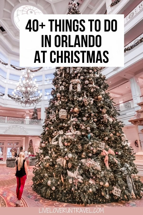Click here for 40+ things to do in Orlando at Christmas from a local! #orlando #florida #christmas #floridatravel #disney | Christmas in Orlando | Orlando things to do in | Christmas events Orlando | Orlando vacation tips | Orlando Florida | Disney travel tips | things to do in Orlando with kids | Orlando Florida vacation | vacation Florida | family vacation Florida | free things to do in Orlando | Orlando Florida secrets | Orlando Florida winter | Disney Christmas | Grand Floridian Christmas