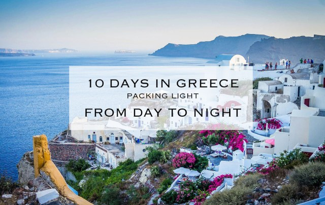 Santorini Greece Packing List