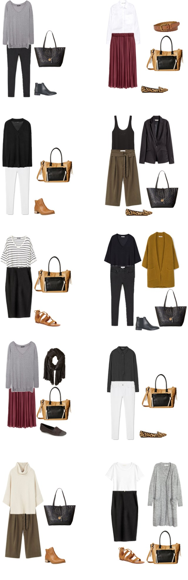 Teacher Capsule What to Wear Outfit Options 21-30 #capsule #capsulewardrobe #whattowear #teacherwardrobe