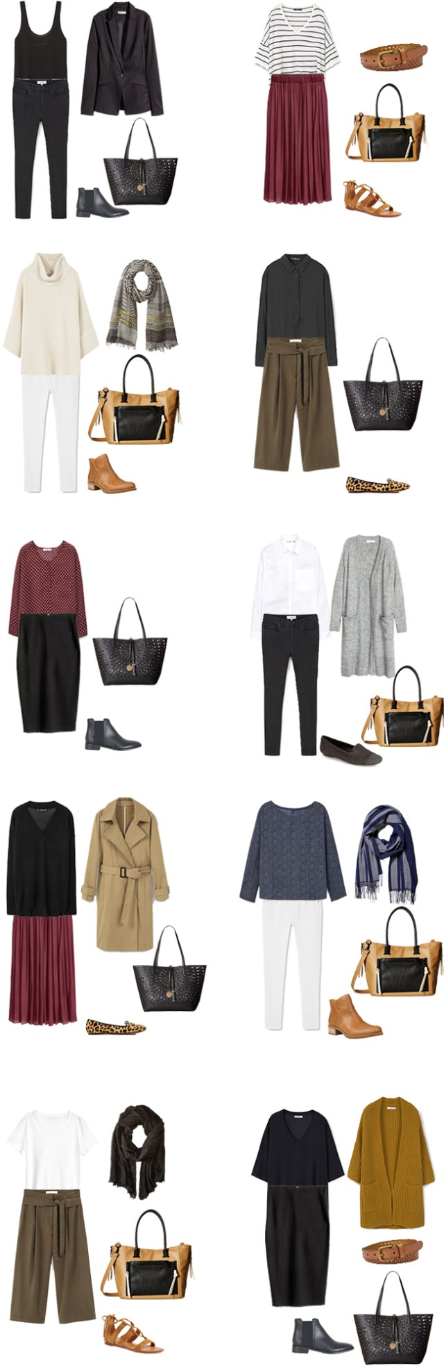 Teacher Capsule What to Wear Outfits Options 1-10 #capsule #capsulewardrobe #whattowear #teacherwardrobe