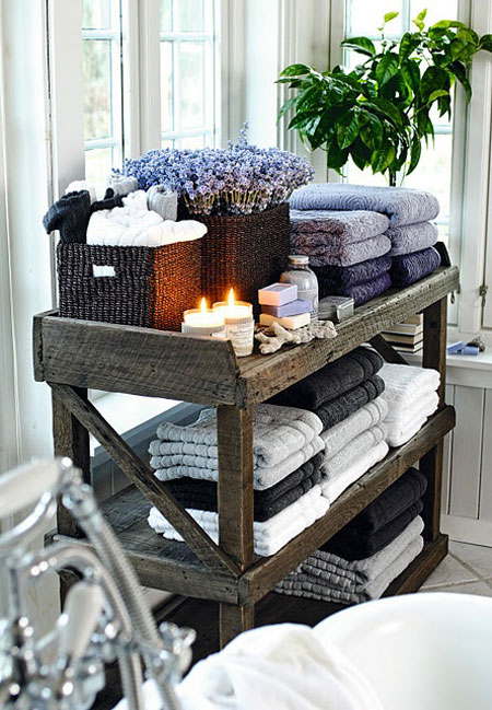 Rustic Shelves via Home and Cottage