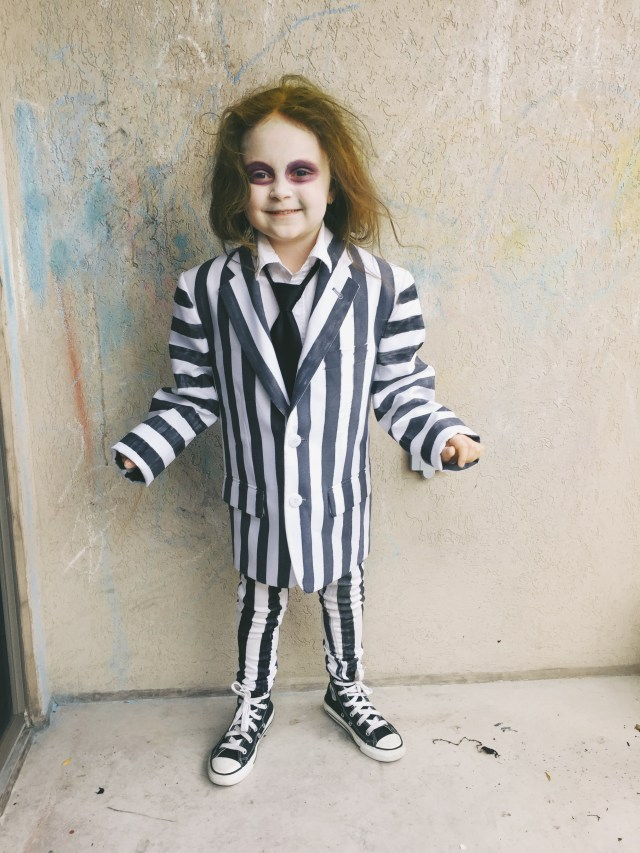 Kids Beetlejuice Costume Halloween DIY