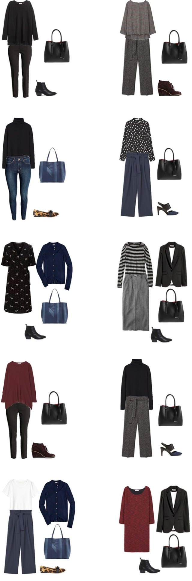 Fall/winter work capsule wardrobe business casual outfit options 11-20 #capsule #capsulewardrobe #workcapsule #workwear