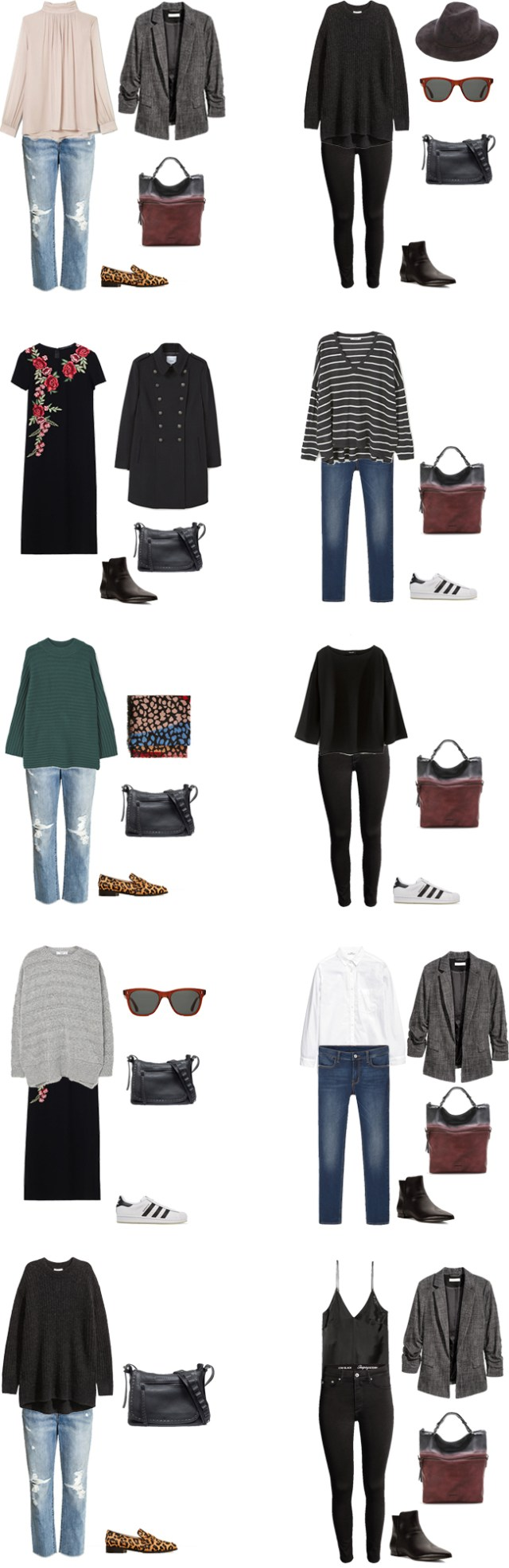 What to Wear in London England Packing Light Outfit Options 1-10 #travellight #packinglight #packinglist #traveltips #travel