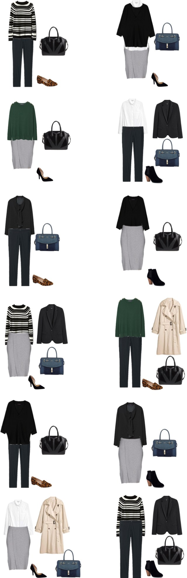 Back to Basics Starter Work Capsule for under $250 Outfit Options #capsule #workwardrobe #capsulewardrobe #staples #basics #livelovesara