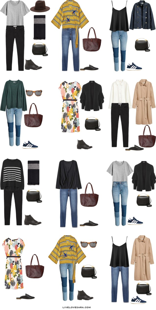 What to Wear in Cornwall England Outfit Options 1-12 Packing Light List #packinglist #packinglight #travellight #travel #livelovesara