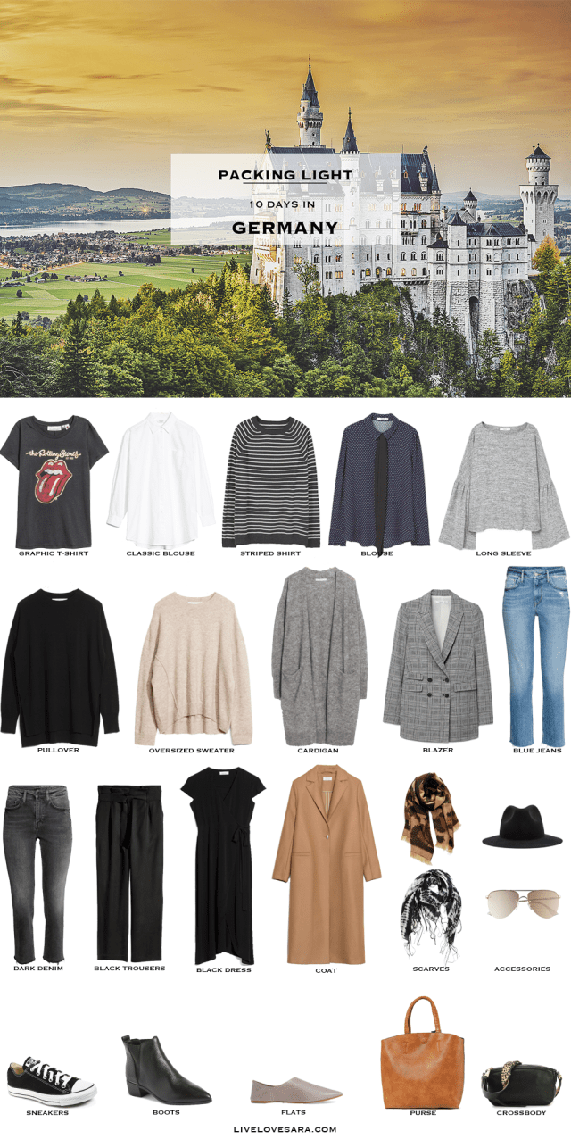 What to Pack for 10 Days in Germany Packing Light List