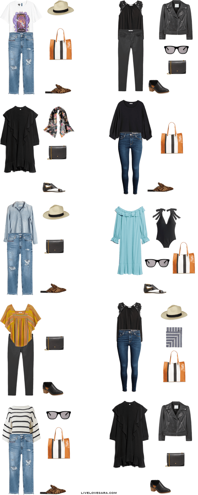 What to Pack for 10 Days in Los Angeles, California Packing Light List Outfit Options 11-20