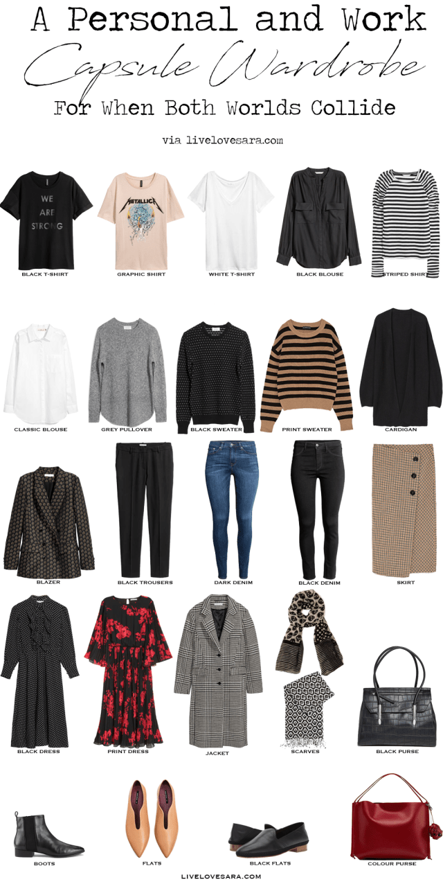 Personal and Work Capsule Wardrobe via livelovesara