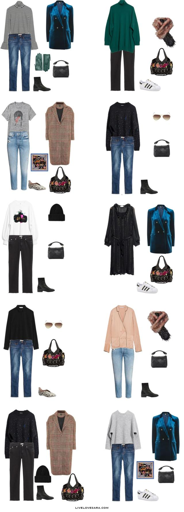 What to Pack for Ghent, Belgium Packing Light List Outfit Options 11-20 #packinglight #travellight #packinglist #travel #capsule #capsulewardrobe #livelovesara