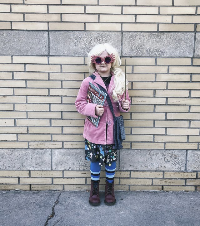 Luna Lovegood children's cosplay halloween costume for Comicon or Fanexpo.