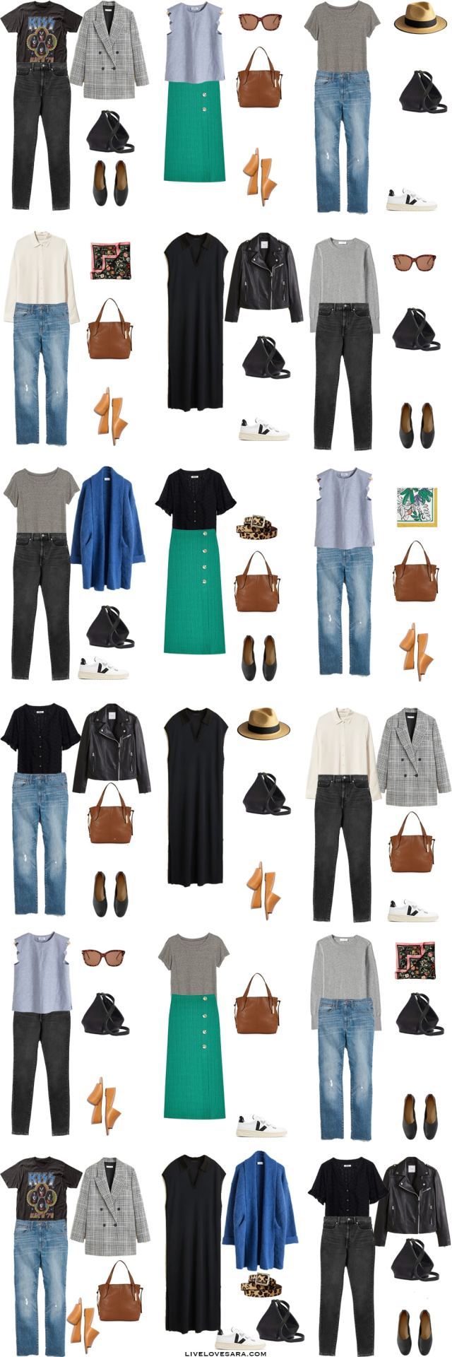 A what to pack for Stockholm, Sweden packing light list and outfit options.