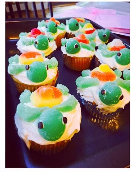 DIY Turtle Cupcakes