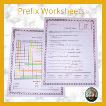 prefix-worksheets
