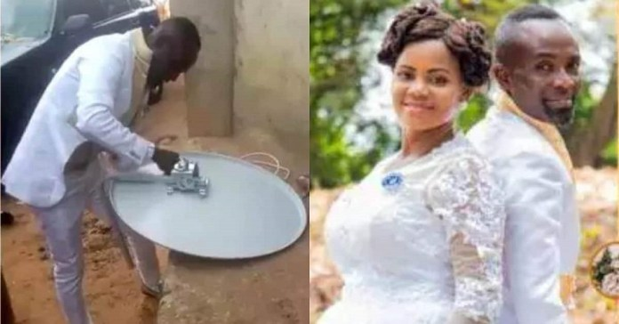 Groom Keeps Bride Waiting In Church And Goes To Fix Dstv For Customer