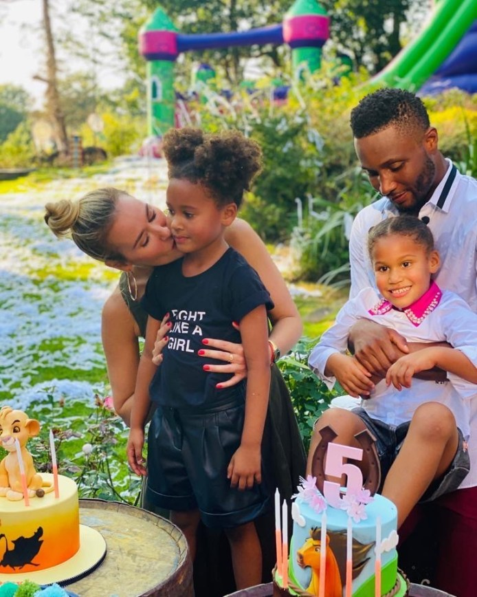 Proud Father! Mikel Obi Cooks For His Twin Daughters, Ava & Mia On Their 5th Birthday