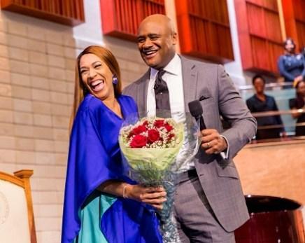 Pastor Paul Adefarasin, Founder of house on the rock celebrates ,wife's birthday