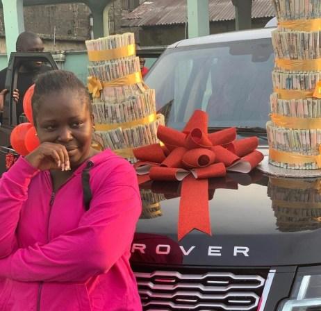 Warri-Based Billionaire, Ekomieyefa Uduboh, Surprises His Wife With A 2020 Range Rover On Her Birthday (Photos)