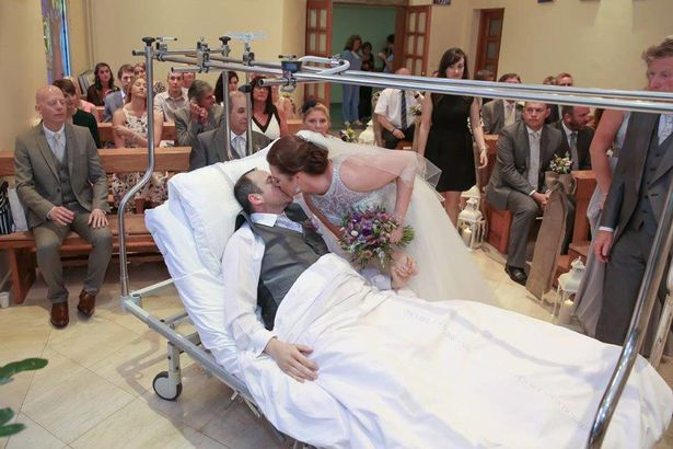 Couple married in hospital to keep special date(See Video)