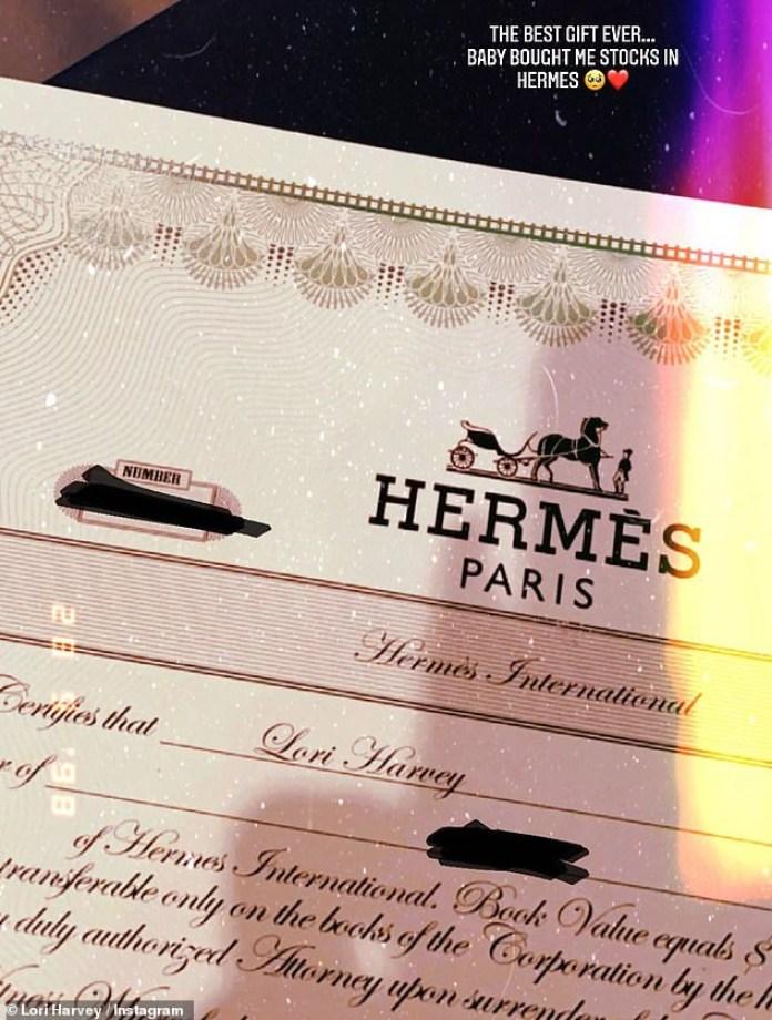 Michael B Jordan buys girlfriend Lori Harvey stocks in Hermès as Valentine's day gift (photos)