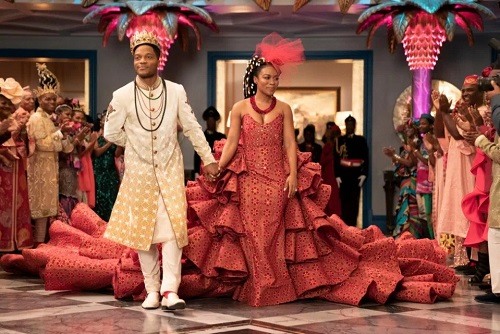 'Coming 2 America' wedding dress was so massive, bride Nomzamo Mbatha needed help to the altar