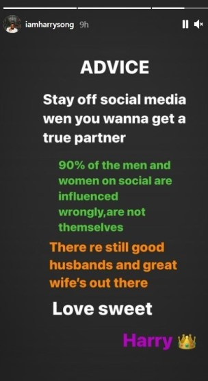 """""""Stay Off Social Media, When You Get A True Partner"""" – Newly Married Singer, Harrysong Says"""