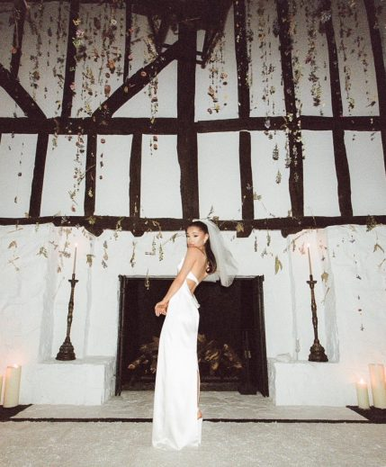 Singer, Ariana Grande Shares First Photos From Her Wedding To Dalton Gomez