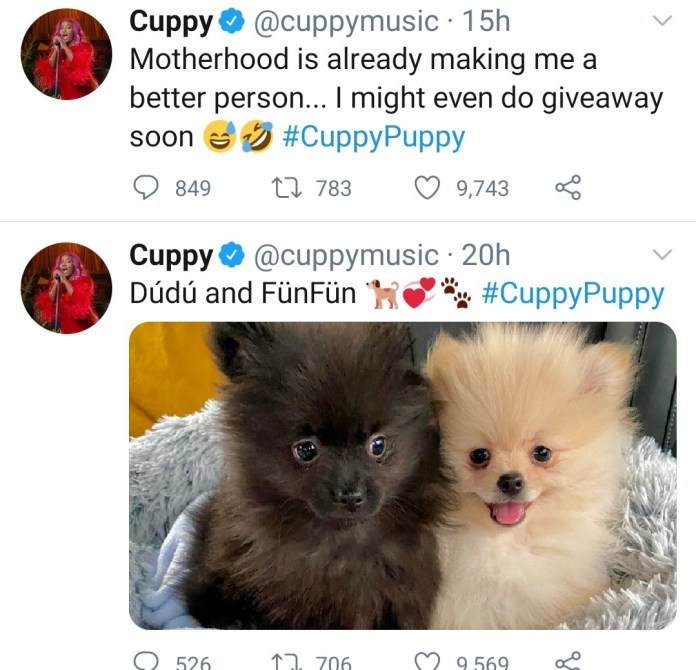 DJ Cuppy responds to follower who said he can't stand her