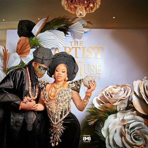 First photos and videos from Toyin Lawani's traditional wedding