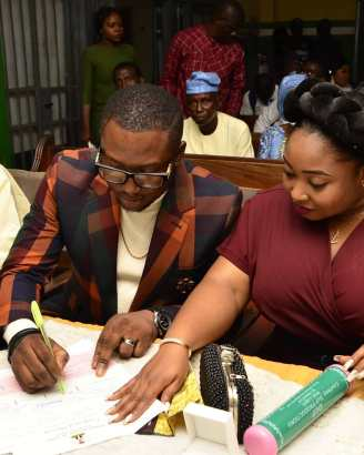 PurpleStreaks Stitches CEO Ibe Uduma A.K.A G-factor Ties The Knot With His Beautiful Fiancé In Court Registry (Pics)