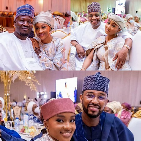 Lovely photos of President Buhari's daughters and their spouses