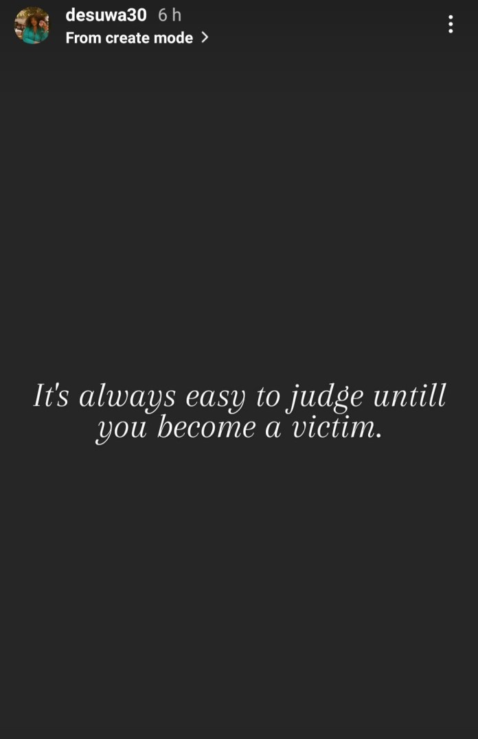 """""""It's easy to judge until you become a victim"""" Jude Ighalo's estranged wife, Sonia, writes"""