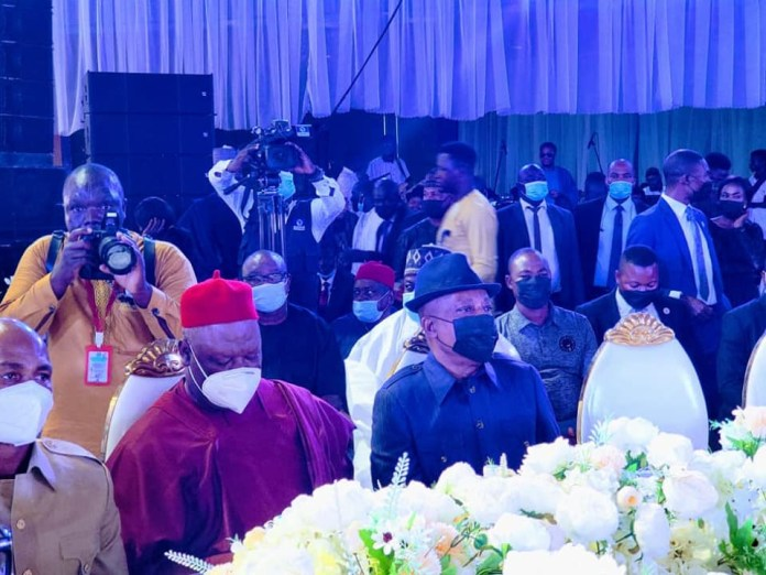 Patience and Goodluck Jonathan, Ahmed Lawan, Gov Diri, Dino Melaye, others at wedding reception of Gov. Mohammed's daughter (photos)