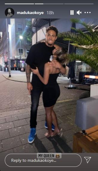 Super Eagles goalkeeper, Maduka Okoye shows off girlfriend