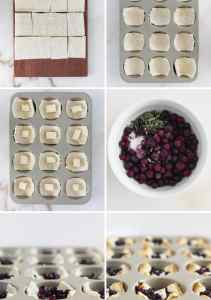 Wild Blueberry and Brie Puff Pastry Bites are the perfect appetizers for any holiday gathering. With only 5 ingredients and filled with gooey brie and wild blueberries, they're sure to please all of your guests this Thanksgiving or Christmas! (vegetarian)| sponsored by Wild Blueberries | via livelytable.com