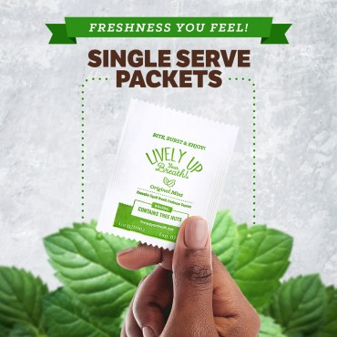 Lively Up Your Breath Original Mint Capsules Single Serve Packets