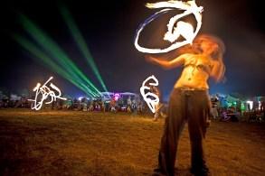 Fire dancers @ Nateva Music Fest