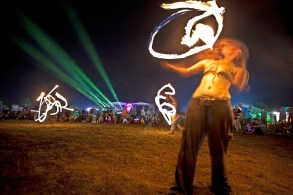 Fire dancers @ Nateva Music Fest