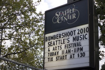 bumbershoot sign