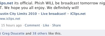 iclips phish broadcast