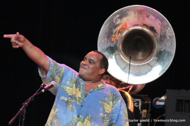 Dirty Dozen Brass Band @ Chastain Amphitheatre, Atlanta 7/30/11